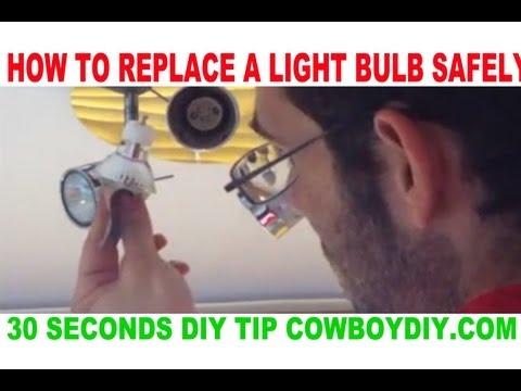 AWESOME DIY TIP - HOW TO REPLACE A TIGHT SPOT LIGHT BULB EASY COWBOY DIY COWBOYDIY.COM
