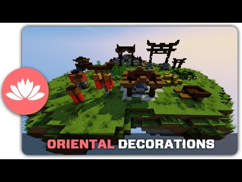 Minecraft Building Tutorial : How to build Oriental Town Decorations