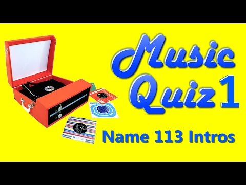Music Quiz 1 - Name 113 Song Intros - With Answers (see description)