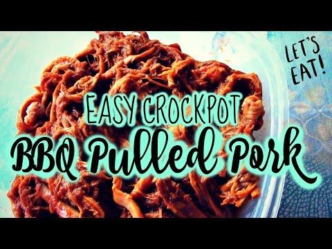 2 INGREDIENT BBQ PULLED PORK | EASY CROCK POT RECIPE!