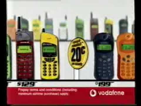 Vodafone New Zealand Prepaid Advertisement 2000