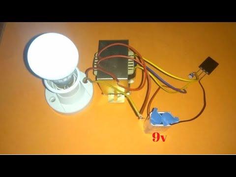 9v to 220V | how to make inverter circuit 9v to 220 volts