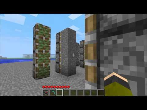 Minecraft - Castle Gate/Door Tutorial - With Pistons!