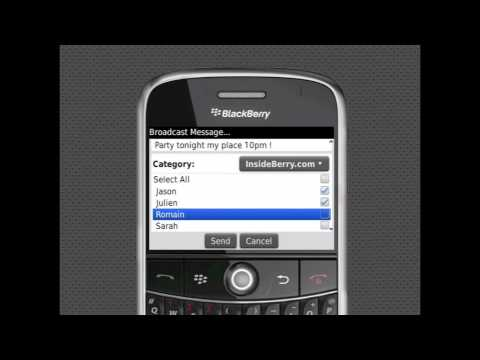 How to Send a Broadcast Message on BlackBerry