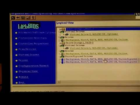 LSI 9271 step by step Raid Creation & setting Boot drive for respective Raid array