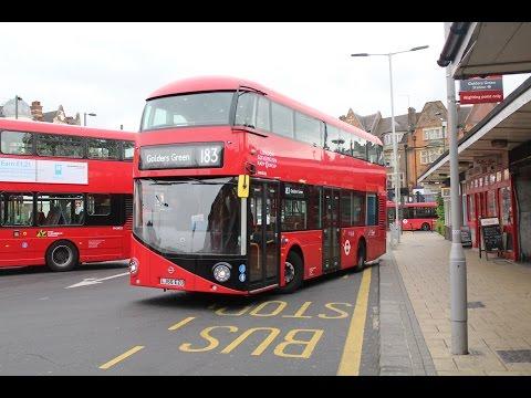 RATP Group (London Sovereign)   Wrightbus SRM/Volvo B5LH   183 to Golders Green   LJ66EZU/VHR45208