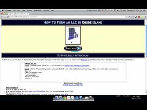 How to Form an LLC in Rhode Island