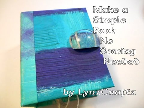 Make a Simple Book no sewing skills needed