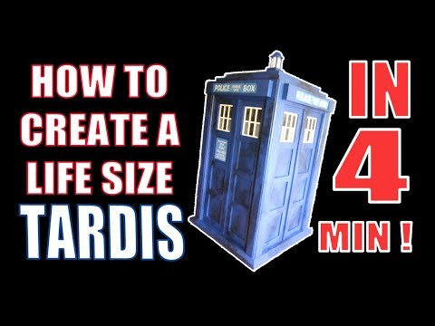 How to build a TARDIS full size [timelapse]
