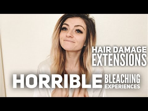 My Horrible Hair | bleach damage, clip/tape in extensions, hair products