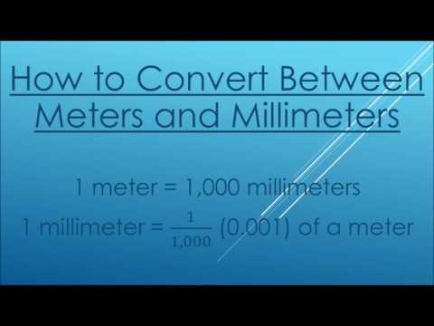 Converting Between Meters and Millimeters
