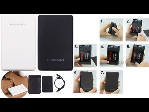 How to use laptop hard disk as external hard drive for 3$ (2018)