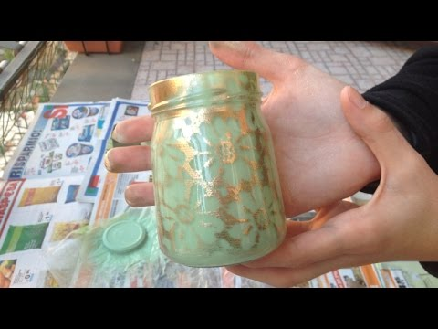 How To Make a Cute Vintage Decor Jar - DIY Home Tutorial - Guidecentral