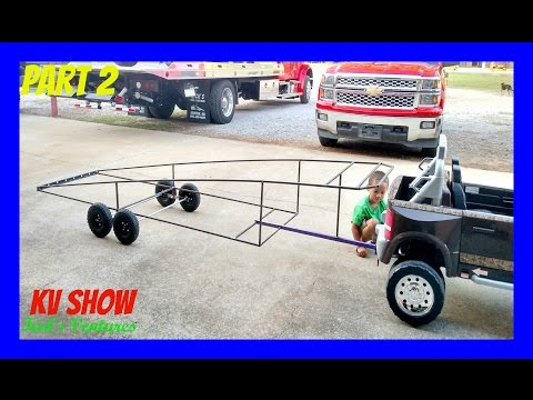Part 2: Building The Top Platform And Sliding Ramp For Ride On Power Wheel Dodge Ram 3500 Dually