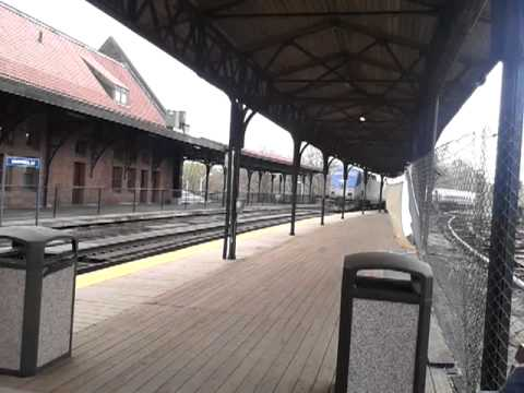 Southbound train at union station, Hartford, CT.