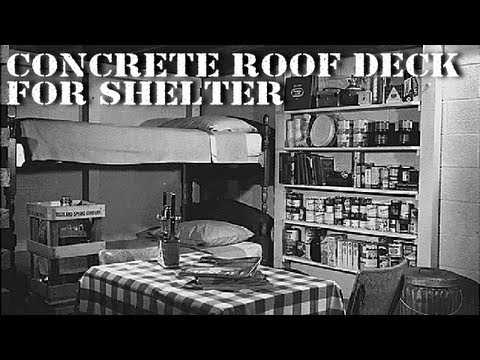 Concrete Roof Deck for Underground Shelter - Sketchup