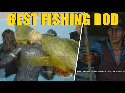 Final Fantasy XV - How To Get The BEST FISHING ROD & REEL (Tranquility Location) FFXV
