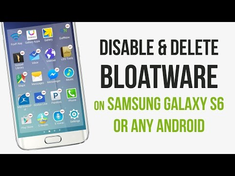 Delete & Disable Bloatware on Samsung galaxy S6 Edge Note 5 Android
