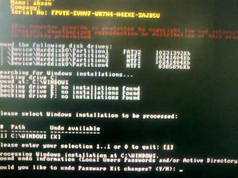 How to reset Administrator password in windows xp part 2