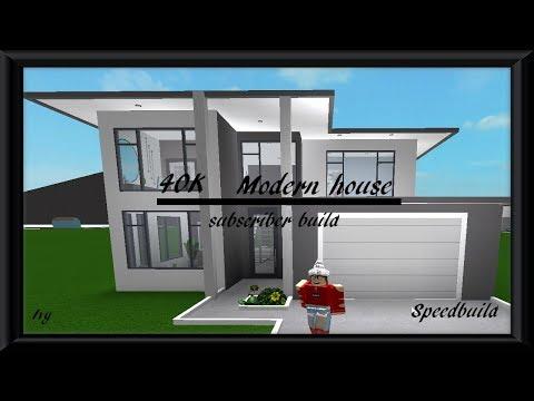 40k Modern House Roblox Bloxburg Subscriber Build Speedbuild