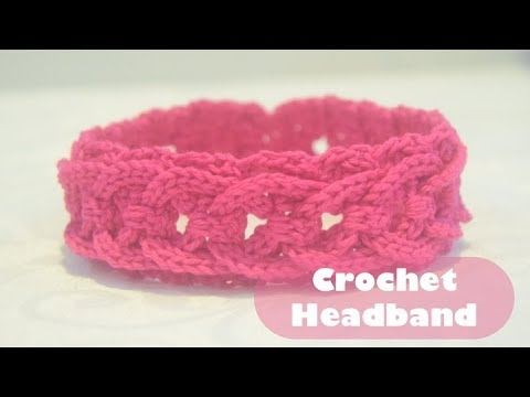 Crochet Easy & Simple Headband or Hairband (Any Size) Tutorial