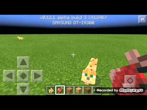 How to tame an Ocelot in MCPE 0.12.1
