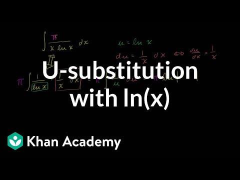_-substitution: logarithmic function | AP Calculus AB | Khan Academy
