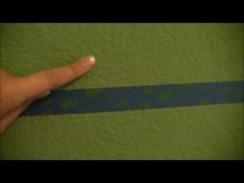 jaylaru tutorial - how to paint perfect stripes on textured wall