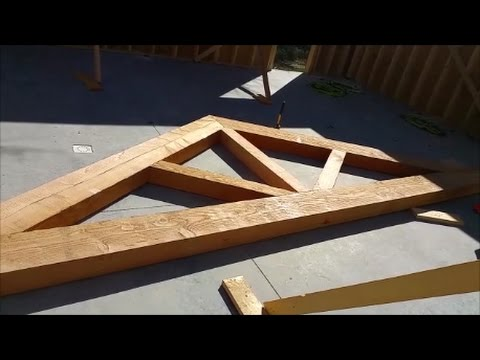 Building Huge Douglas Fir Trusses! WOW! These are going to look incredible!
