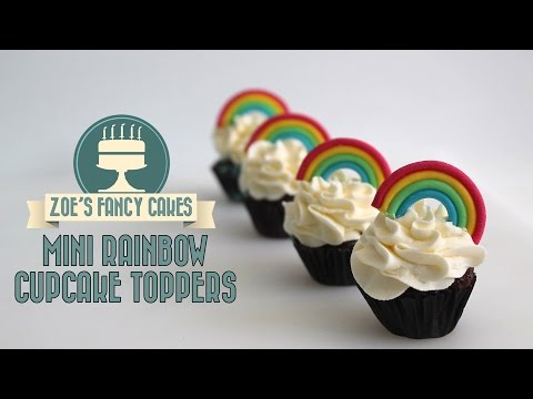 Rainbow cupcakes: how to make mini rainbow models using fondant