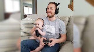 Hilarious Baby Copies Daddy - Cute Babies Copying Dad - Funny Baby Videos