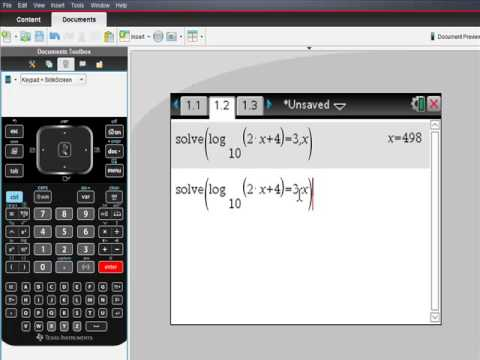 Ti Nspire CAS Solving Logarithmic Equations MUST SEE