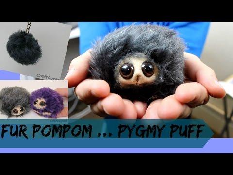 DIY Fur Pompom Key Ring/ Pygmy Puff