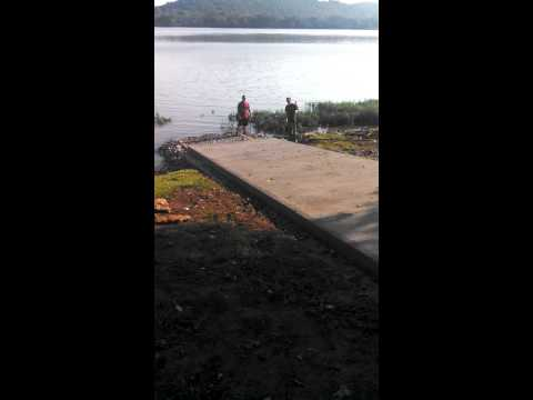 Rock Springs Ky. Boat ramp pushed into river.