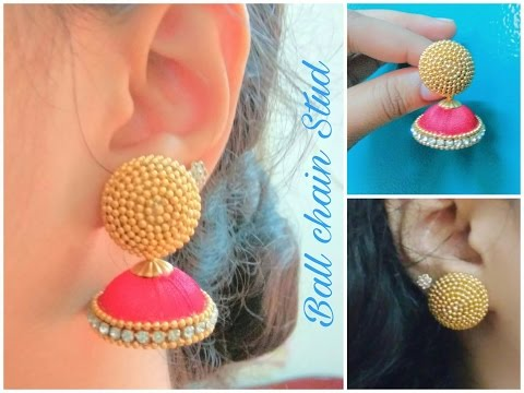 How to make Ball chain stud with Quilling paper  - Tutorial