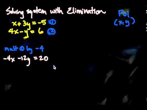 Solving System of Equations with Elimination