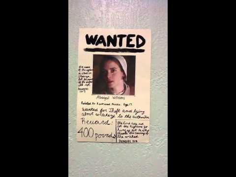 Abigail Williams wanted poster.