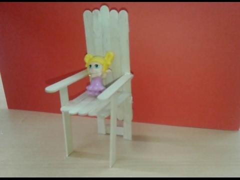 How To Make Pop Stick Bench - DIY Craft