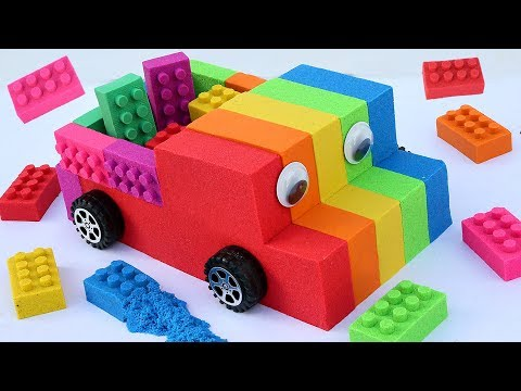DIY How To Make Kinetic Lego Sand Pick Up Truck Rainbow Learn Colors