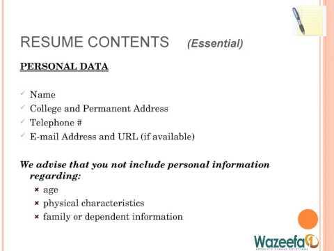 Resume writing tips - wazeefa1