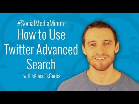 [HD] How to Use Twitter Advanced Search for Business - #SocialMediaMinute