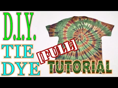 Camouflage Spiral Tie Dye Shirt [Full Tutorial] #48