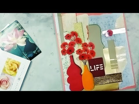 How to make a collage Greeting Card