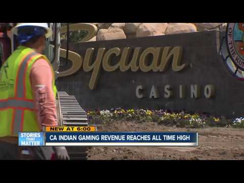 Indian gaming revenue in California reaches all-time high