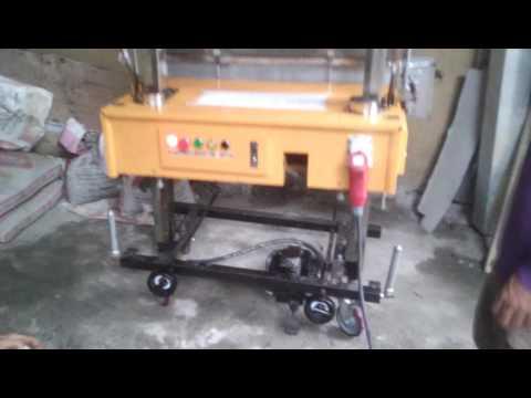 SC Specialty Contractor, Inc plastering machine maiden run