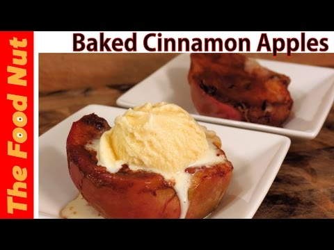 Healthy Baked Cinnamon Apples Recipe In Oven And With No Sugar - Easy Roasted Apples | The Food Nut
