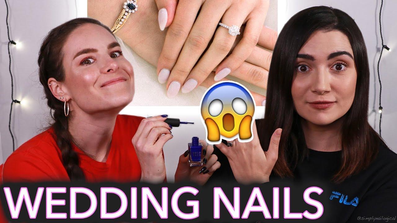 Giving Safiya Wedding Nails