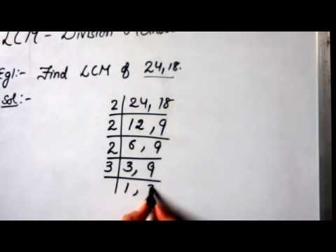 Find LCM by Division Method (example 1)