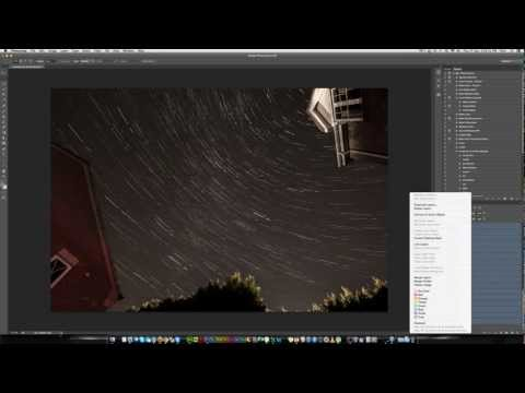 How to Make a Star Trails Photoshop using stacked images