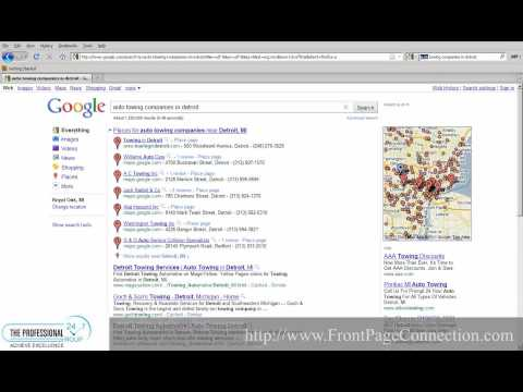 How to get first page Google Maps